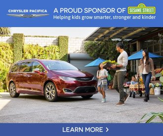 Chrysler Pacifica Proud Partner of Sesame Street